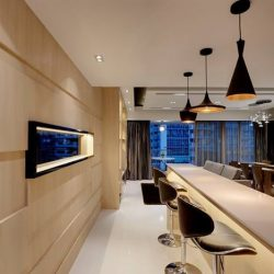 [3D INNOVATIONS DESIGN PTE LTD] The warmth of wood also recalls the Scandinavian roots of the interior to provide an intriguing rustic texture to the