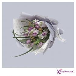 [Xpressflower.com] This bouquet of purple tulips embodies a sentimental piece, ideal to let your love be known! 🌷
