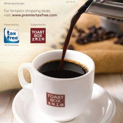 [All Watches] Tourists only! This February enjoy a free Toast Box Nanyang coffee or tea when you shop tax free at All