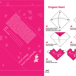 [Royce'] Create a ROYCE' heart-shaped origami and get a chance to win ROYCE' hampers worth S$100 this Valentines! Get