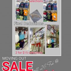 [Tom & Stefanie] West Gate ~ Moving Out Sale , Selected items Up to 70% Off !! Last day of operation 26/2/17 Sun !