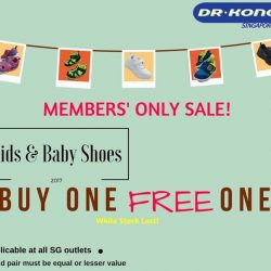 [Dr Kong] Exciting news for members! Buy one FREE one for all baby & kids shoes! Come over our store now to enjoy