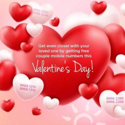 [M1] Bask in the season of love with free couple mobile numbers* when you sign up selected mobile plans this Valentine'