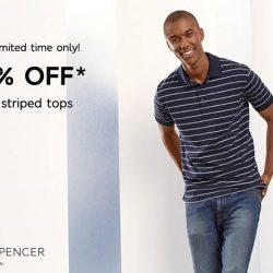 [Marks & Spencer] A perennial print trend for men, stripes are big again this Spring. Enjoy 20% OFF Men's striped tops for