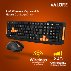 [Valore Challenger] New Arrival! Valore 2.4G Wireless Keyboard & Mouse Combo (AC10)No messy cables on your desk with Valore wireless keyboard