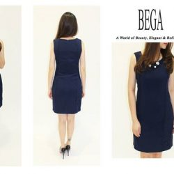 [BEGA] Go for a sexy yet sophisticated look in this dress with side lace detail! This sleeveless style is perfect for