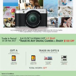 [FUJIFILM] Trade-in your used digital camera of any brand and condition to enjoy a $100 Trade-in Promotion* for X-