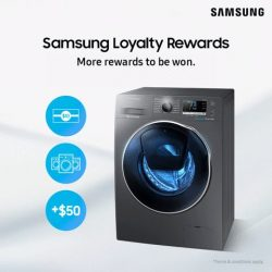 [Samsung Singapore] If you have yet to register your Samsung washing machine, it's not too late! Register now for a chance