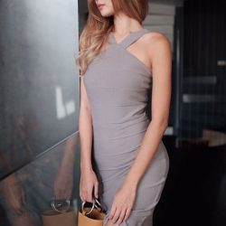 [MDSCollections] Halter Fitted Dress in Grey now at $9.90 | #mdscollectionsLast day to get 20% off sale items, check out