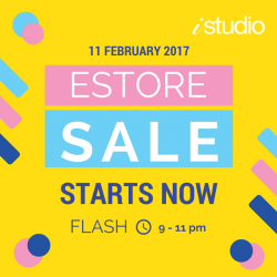 [iStudio] Missed our eStore FLASH SALE yesterday? Don't worry, we give second chances!Shop now with exclusive discounts for: iPhone