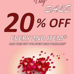 [ACCENTZ.CO] Show your love this February. Get 20% discount on every second item!!! Free gift for every S$100 purchase!!!