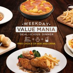Pizza Hut: Enjoy FREE 1 x Side & Drink with Every Order of Selected Mains on Weekdays!