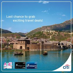 [Citibank ATM] Missed your chance to book your holidays with ASA Holidays during the past weeks? Fret not, visit ASA Holidays at