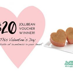 [Jollibean Singapore] Thank you once again for all your participation in our Valentine's Day contest. We have read all your heartfelt