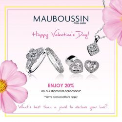 [Mauboussin] Mauboussin wishes you a Happy Valentine's Day! Exclusive and flash offer on all our diamond collections!