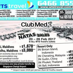 [WTS TRAVEL] Fret not if you have missed the NATAS Travel 2017 last weekends! Beat the crowd and check out our Post-