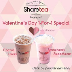 [Sharetea Singapore (歇脚亭)] Don't miss your second chance of 1-For-1!
