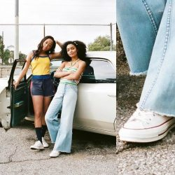[Converse Singapore] Vintage style, meet style icons. @Yarashahidi and @salemmitchell pair the old with the new in LA. #foreverchuck #converse