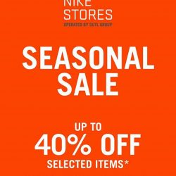 [Nike Singapore] Nike Stores Seasonal Sale Now On!At all stores including Takashimaya Level 4 Sports Departmenthttp://bit.ly/NikeSGLocations
