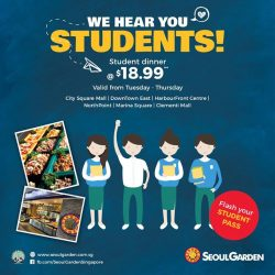 [Seoul Garden Singapore] Don't say we bojio! We would like YOU to jio your friends for our student dinner as well!Tag