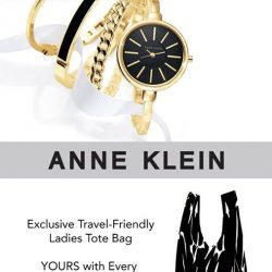 [All Watches / Aptimos] Receive an exclusive travel-friendly ladies tote bag with every Anne Klein watch purchase at any of our Aptimos outlets (