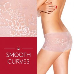 [Triumph International Singapore] Beautify your look and smooth curves at once with pretty jacquard prints in hem free styles. #Stretty will give you