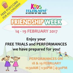 [Kids Performing™ Academy of the Arts] Can't to see you all with your buddy for our #FriendshipWeek 👬👭 - It's gonna be excited coz we prepared