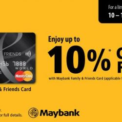 [POPULAR Bookstore] Enjoy up to 10% CASH rebate with your Maybank Family and Friends Card when you shop at POPULAR stores and