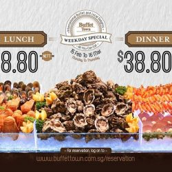 [Buffet Town] If you're a fan of international buffet, you'll be pleased to hear that Buffet Town is offering Weekday