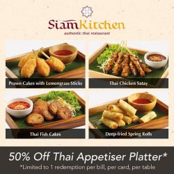 [Siam Kitchen] Weekends calls for awesome deals!