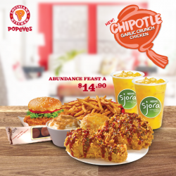 [Popeyes Louisiana Kitchen Singapore] How about something Mexican to change up the oriental scenario? Get this deal before it's too late!