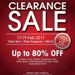 [YAMAHA MUSIC SQUARE] We are about to kick off the much awaited Clearance Sale!Be the first 100 customers to spend more than $