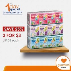 [Guardian] Guardian Ultra Soft Mini Tissue offers extra softness and absorbency.Save 25% and get them at a special price of