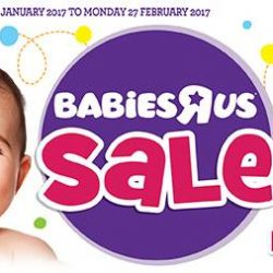 """[Babies'R'Us] Babies""""R""""Us Sale happening right now! Follow toysrus.com.sg/2017janfebbru to see what items we have right now."""
