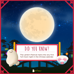 [Mr Bean Singapore] Did you know?The Lantern Festival marks the very first full moon night in the Chinese calendar. Celebrate this special
