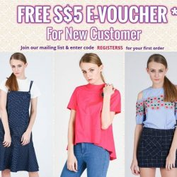 [MOSS] Get a free S$5 E-voucher *1. Just register a New account and join our mailing list @www.mossfashion.
