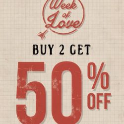 [Wakai] Love is in the air! Wakai celebrates V-Day with our followers. Get 50% discount off for any 2 items *
