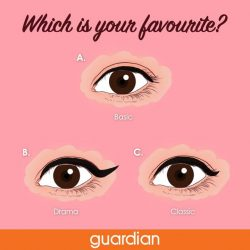 [Guardian] There are infinite amount of looks you can create with eyeliner. Tell us which is your favourite!Find the products