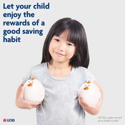 [UOB Bank] Receive an S$8 cash credit on the same working day for every S$1,000* deposited into your child'