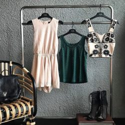 [MDSCollections] Evalee Romper in Beige | Shaylene Top in Forest Green | Luna Embroidery Top now at $9.90More sale items are
