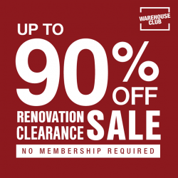 [NTUC FairPrice] Save big on unique finds at Warehouse Club's renovation clearance sale now on till 28 Feb! 💯 Shop for your