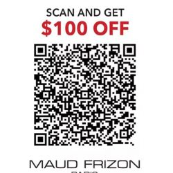 [Maud Frizon Paris] Enjoy $100 OFF with promotion code 10DSS17 when check out!TILL FEB 28, 2017Terms & Conditions: *Promotional offer for purchase