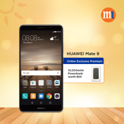 [M1] Get a free 10,000 mAh Powerbank worth $69 when you sign up or re-contract with HUAWEI Mate 9