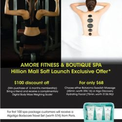 [Amore Fitness] 2 More Days to our Soft Launch opening at Hillion Mall!Check out our opening specials:Receive a $100 discount
