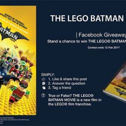 [Filmgarde Cineplex] Stand a chance to win THE LEGO BATMAN MOVIE notebook!How To Participate 1. Like & share this post 2. Answer
