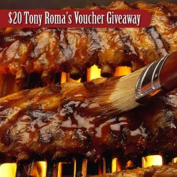 [Tony Roma's] Enjoy $20 off your meal from 22 Feb to 23 March at Tony Roma's Suntec City.