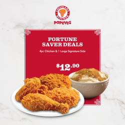 [Popeyes Louisiana Kitchen Singapore] Too many ang paus received or given away, here's a deal that you might need.