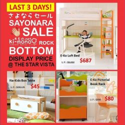 [Ki-mono] Last few display units @ Rock Bottom Price only at Ki-mono, The Star Vista! Last chance to buy! Don't