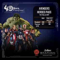[Elements @ Play by Science Centre Singapore] Save with the Avengers Heroes pass! From as low as SGD18, harness your #superhero powers at #MARVEL'S #AvengersSTATIONSG exhibition