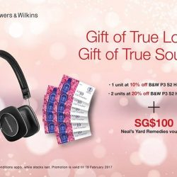 [B&W Bowers & Wilkins] Bring the world to your sweet-heart.Don't miss this chance to surprise your loved one with meaningful gifts.